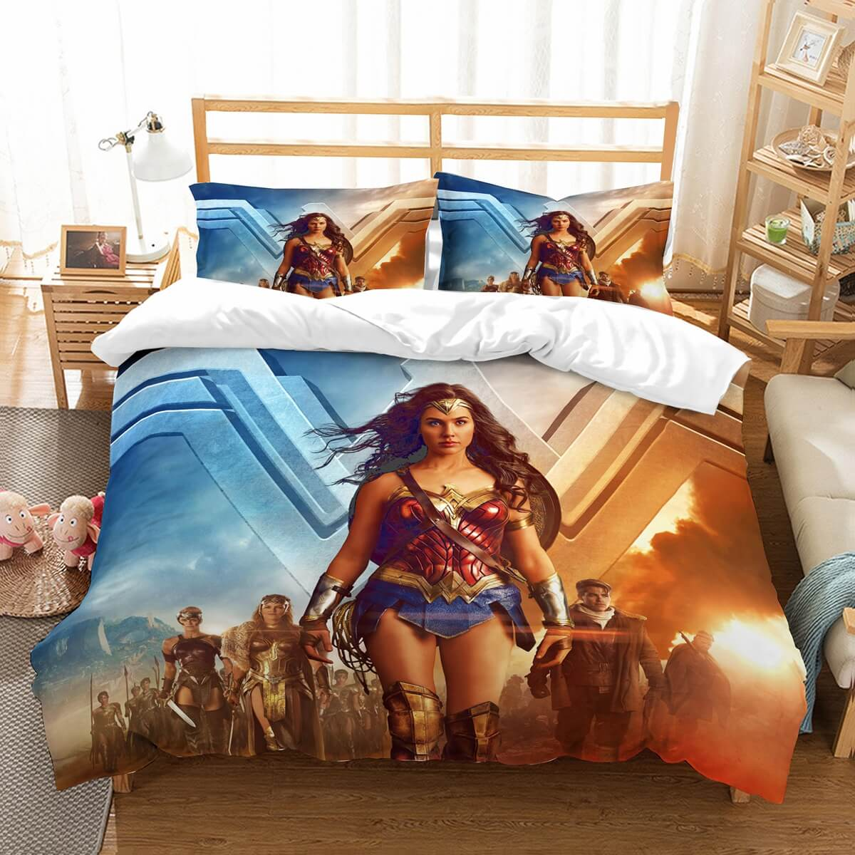 3D Customize Wonder Woman Bedding Set Duvet Cover Set Bedroom Set Bedlinen