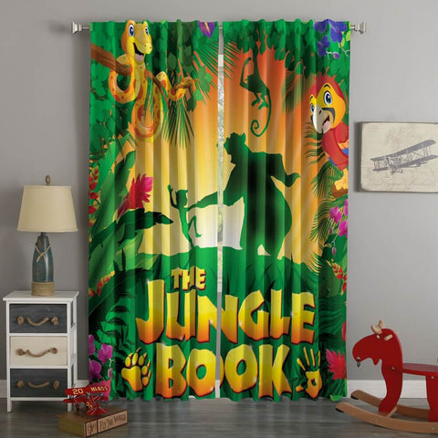 3D Printed Jungle Book Style Custom Living Room Curtains