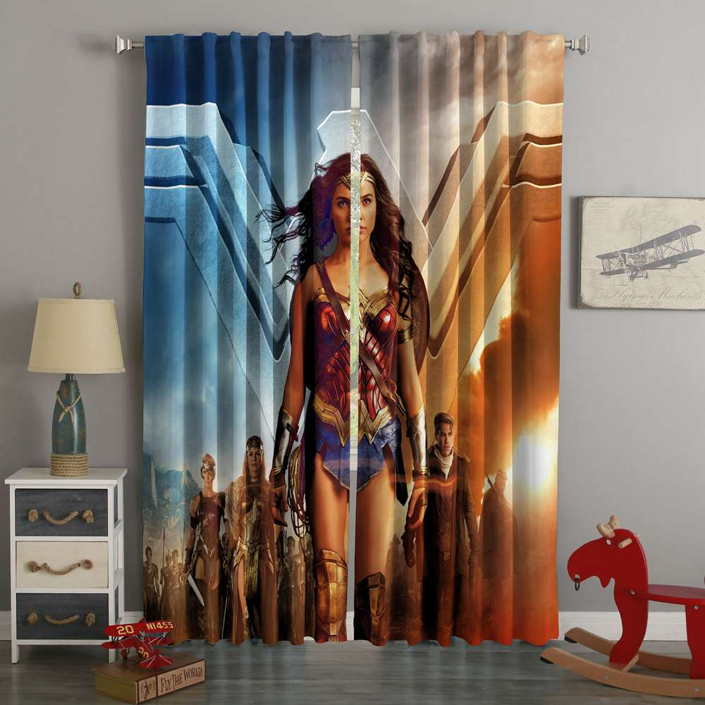 3D Printed Wonder Woman Style Custom Living Room Curtains