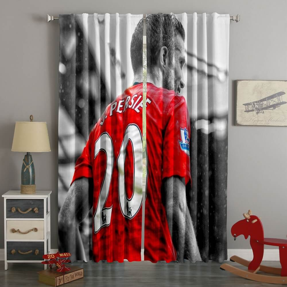 3D Printed Robin Van Persie Style Custom Living Room Curtains