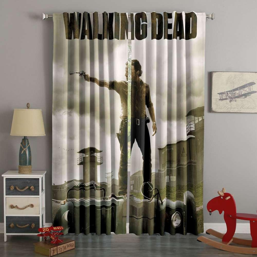3D Printed The Walking Dead Custom Living Room Curtains