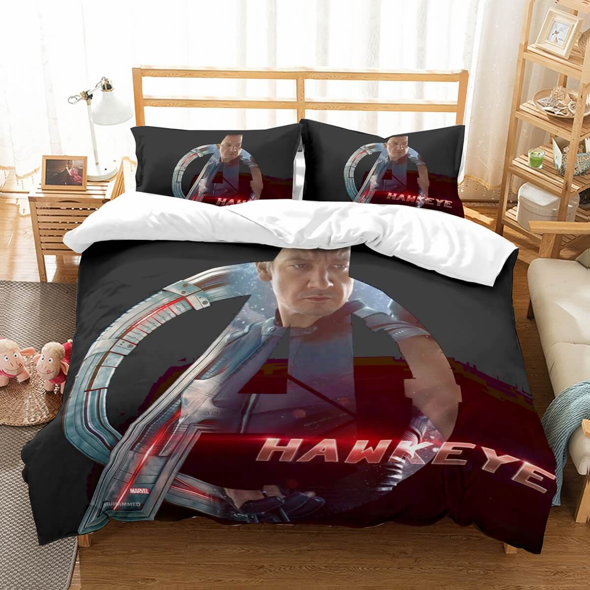 3D Customize Avengers Hawkeye Bedding Set Duvet Cover Set Bedroom Set Bedlinen