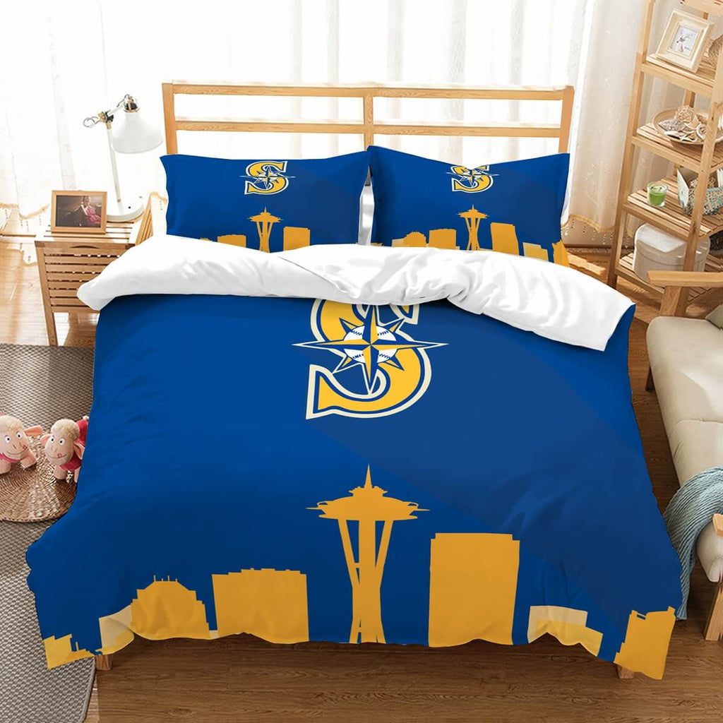 3D Customize Seattle Mariners Bedding Set Duvet Cover Set Bedroom Set Bedlinen