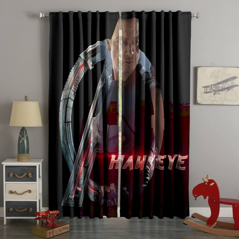 3D Printed Avengers Hawkeye Style Custom Living Room Curtains
