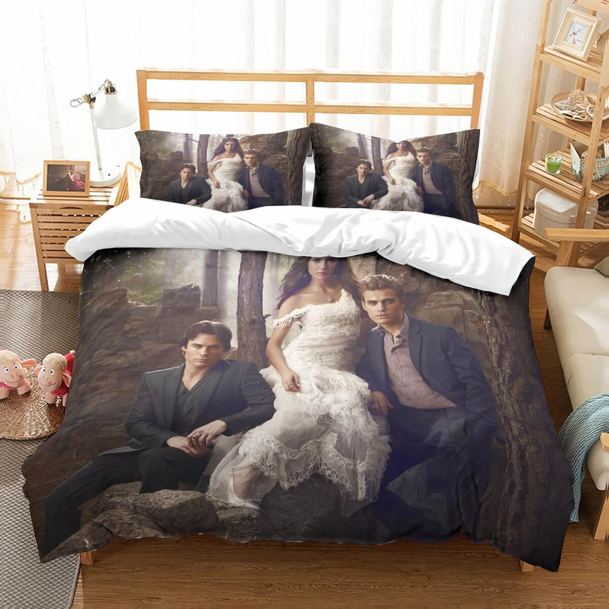 3D Customize The Vampire Diaries Bedding Set Duvet Cover Set Bedroom Set Bedlinen