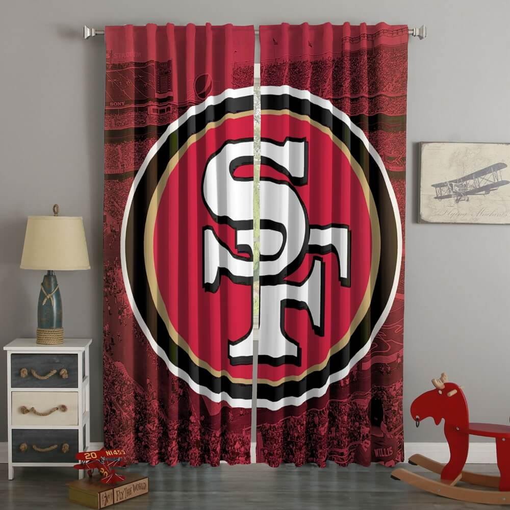 3D Printed San Francisco 49ers Style Custom Living Room Curtains