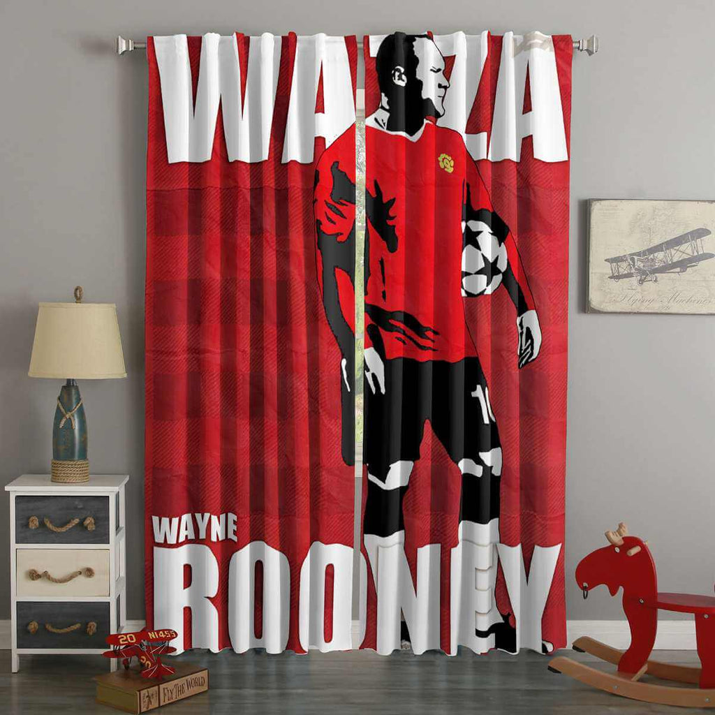 3D Printed Wayne Rooney Style Custom Living Room Curtains