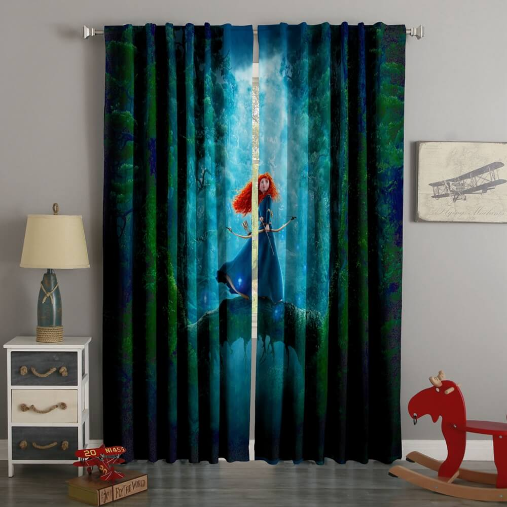 3D Printed Brave Style Custom Living Room Curtains