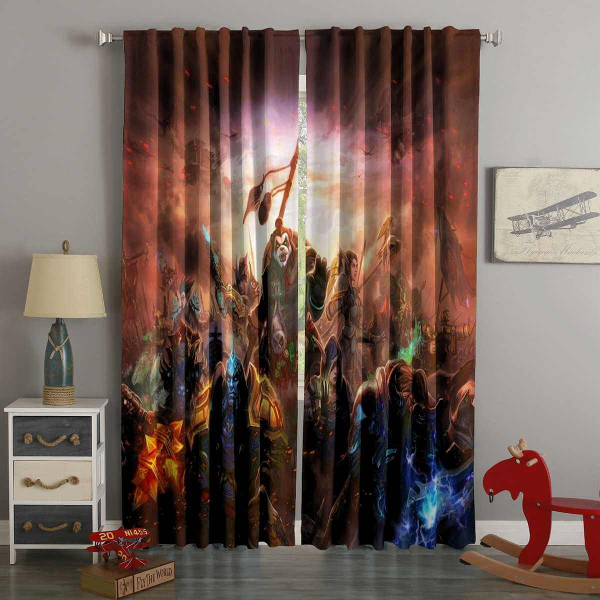 3D Printed World of Warcraft Style Custom Living Room Curtains