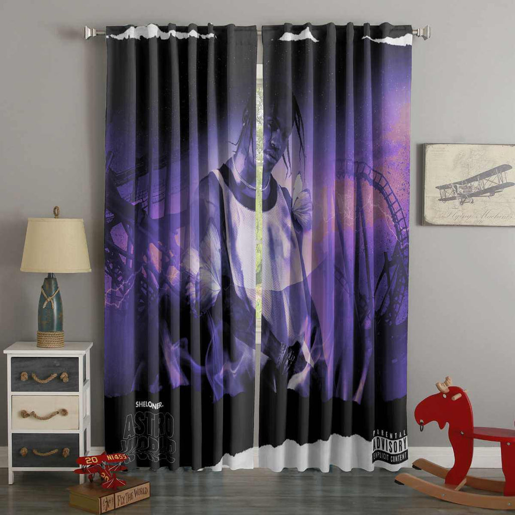 3D Printed Astroworld Style Custom Living Room Curtains