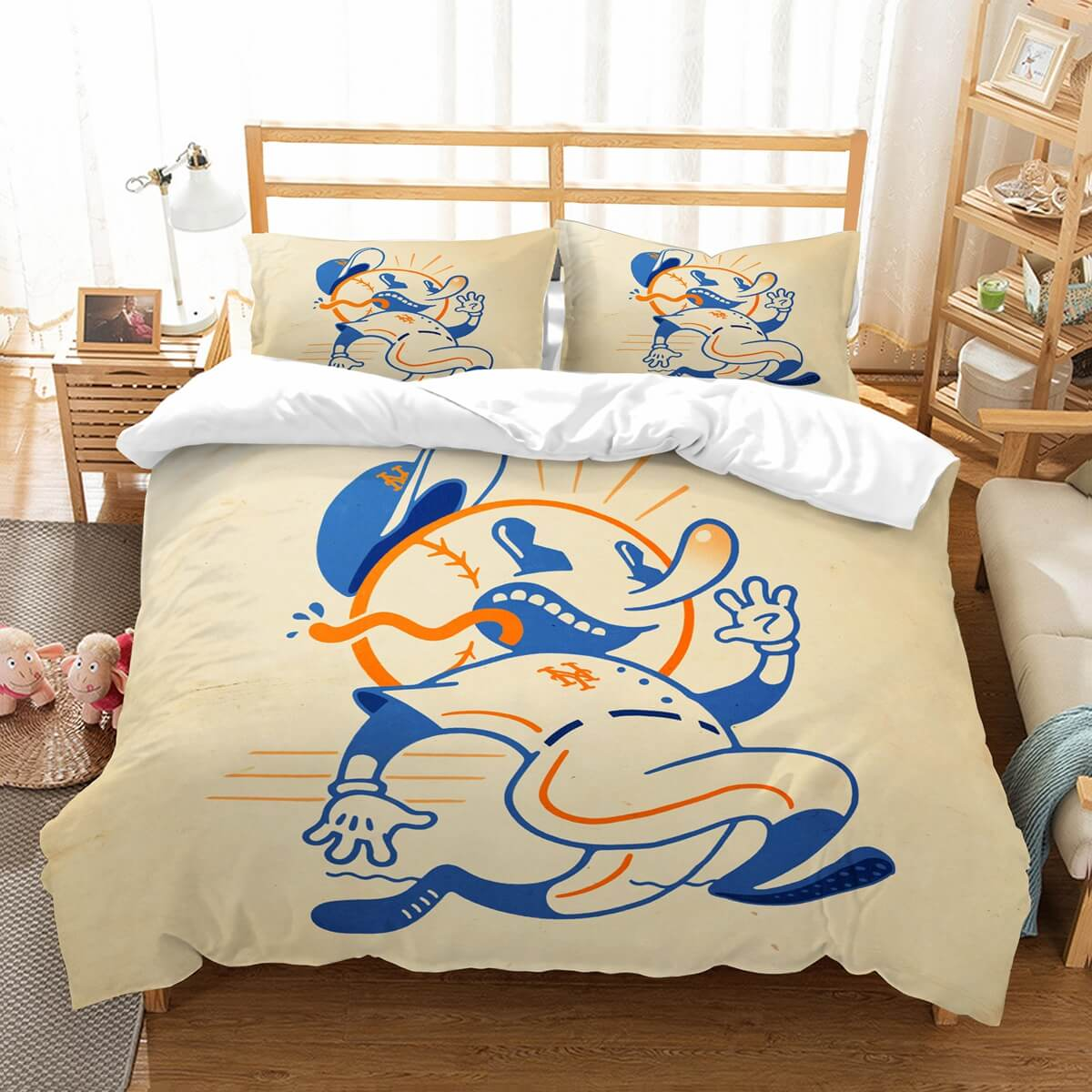 3D Customize New York Mets Bedding Set Duvet Cover Set Bedroom Set Bedlinen