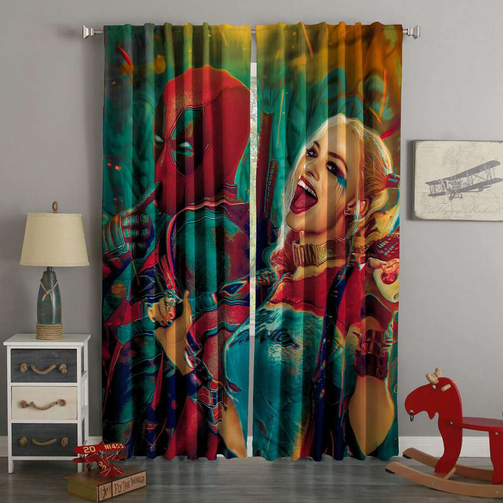 3D Printed Deadpool Style Custom Living Room Curtain