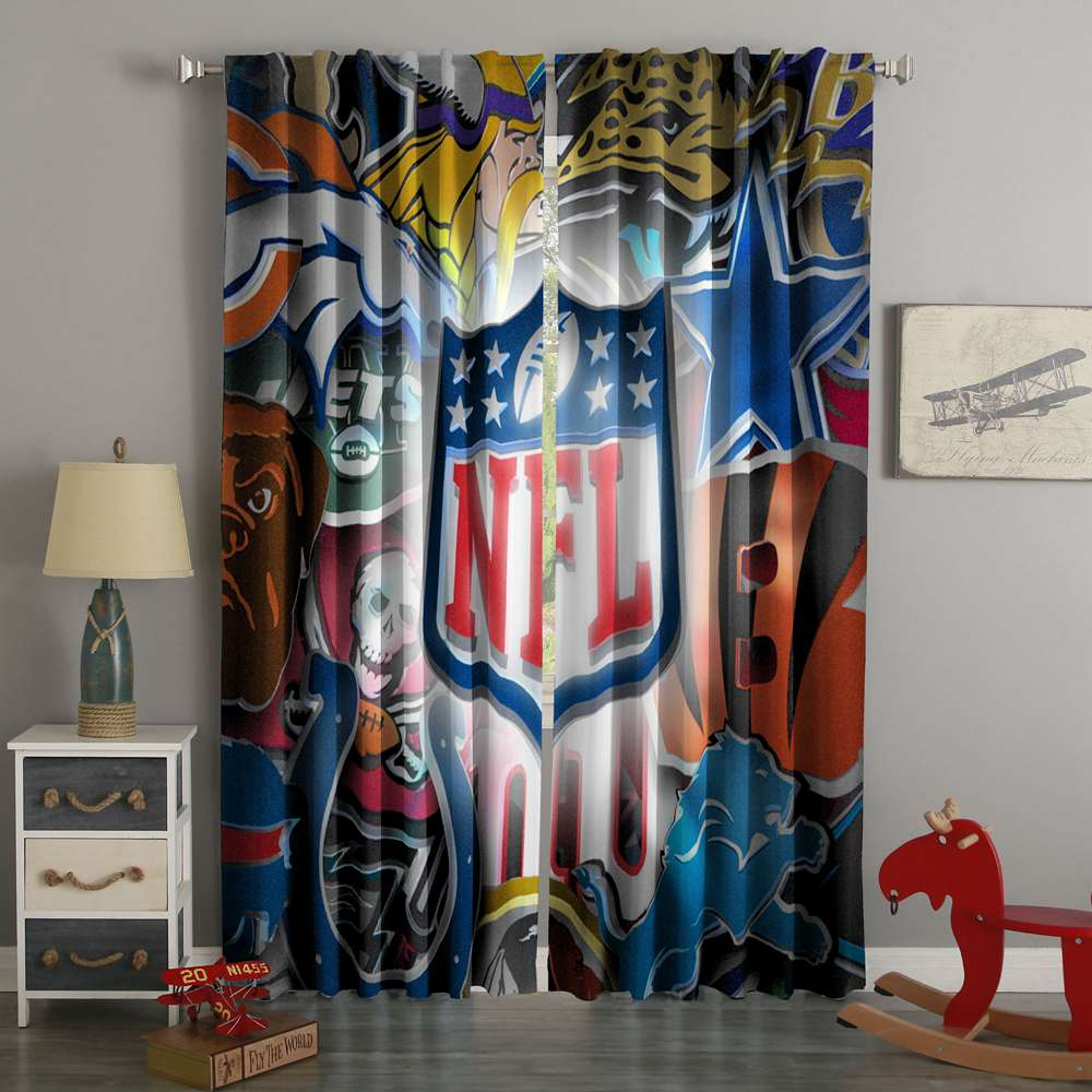 3D Printed NFL Style Custom Living Room Curtains