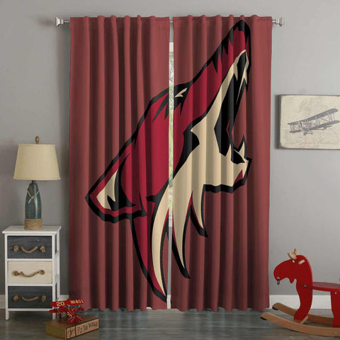 3D Printed Arizona Coyotes Style Custom Living Room Curtains
