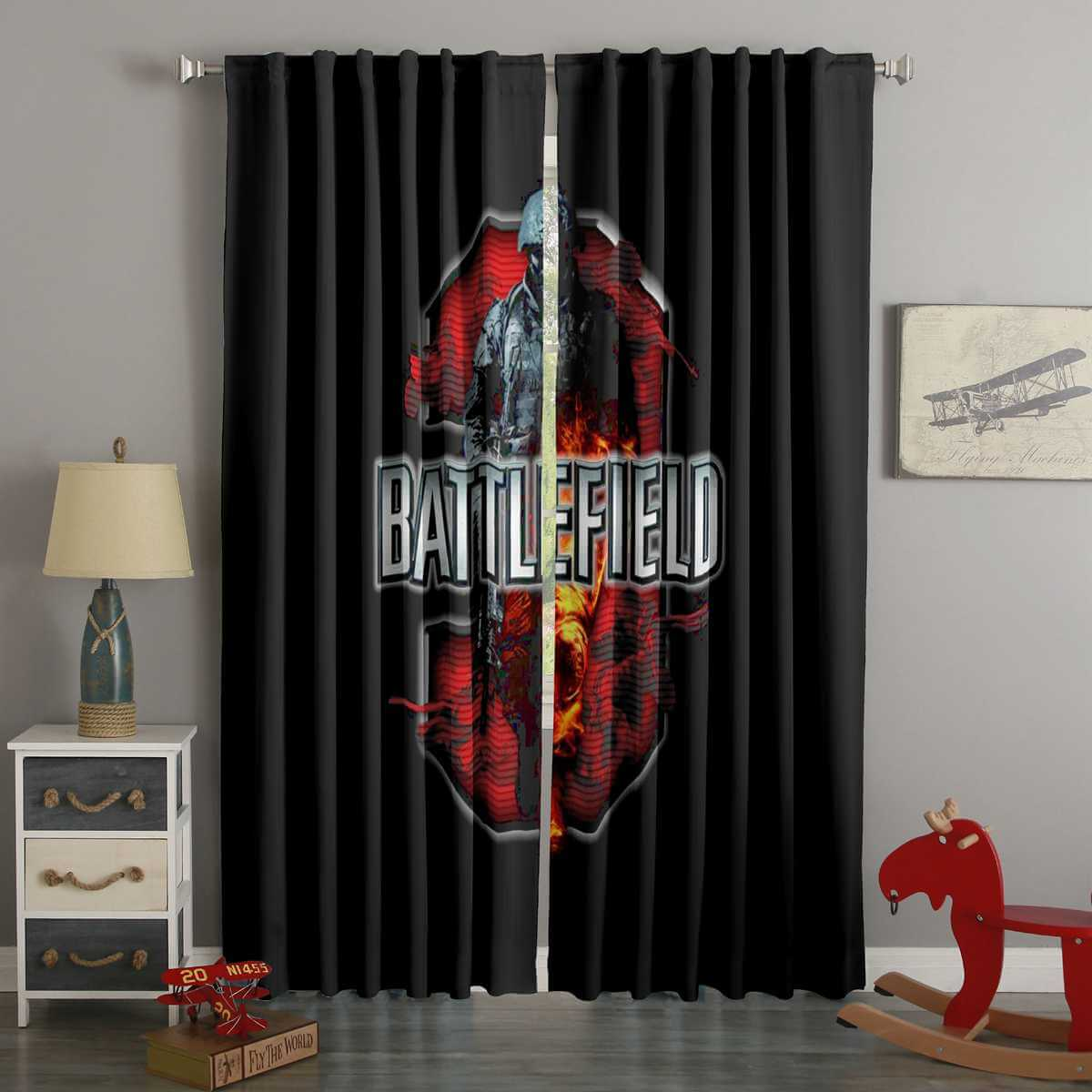 3D Printed Battlefield 3 Style Custom Living Room Curtains
