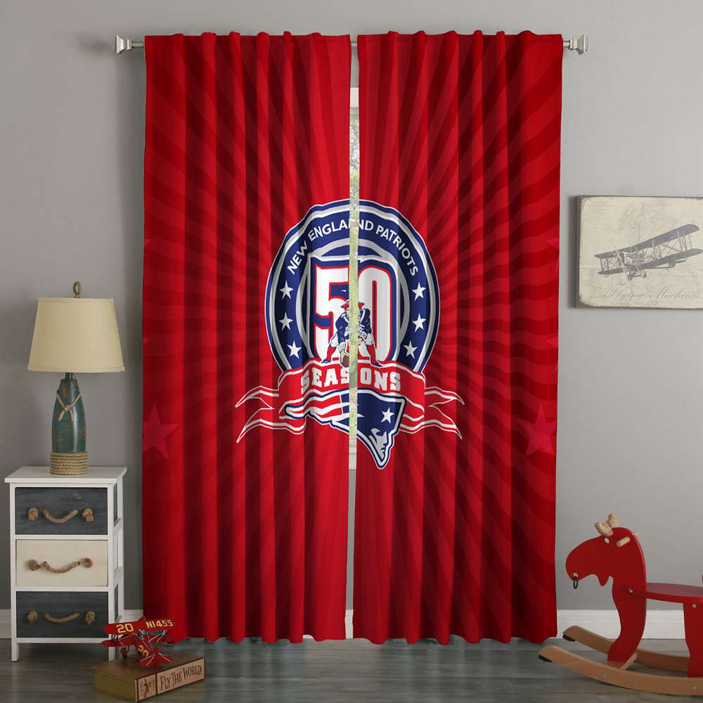 3D Printed New England Patriots Style Custom Living Room Curtains