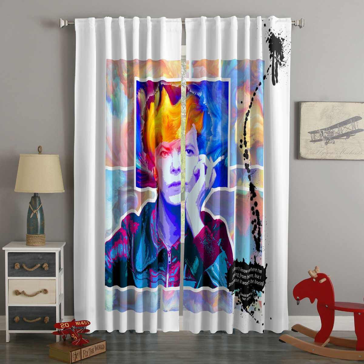 3D Printed David Bowie Style Custom Living Room Curtains