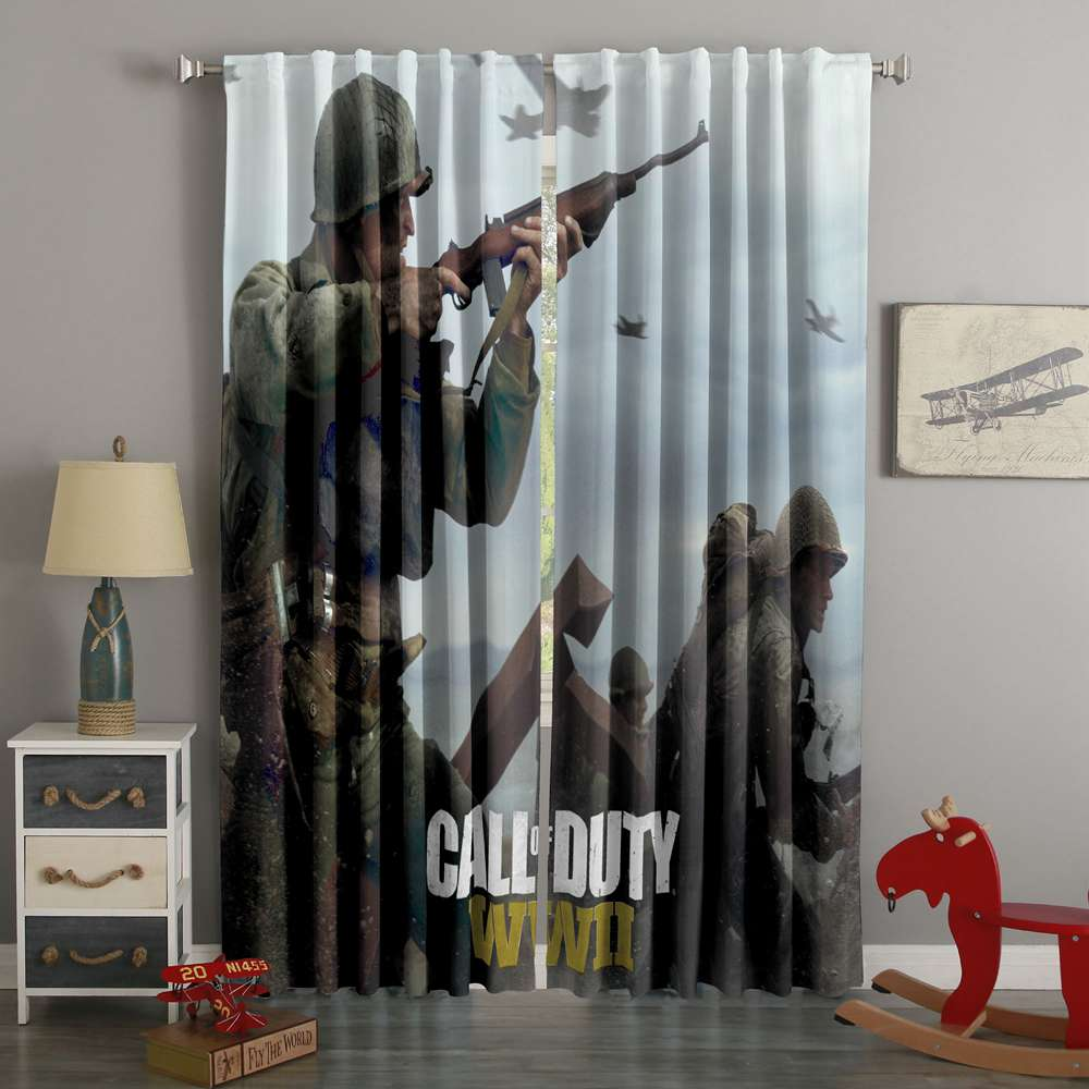 3D Printed Call Of Duty MW3 Style Custom Living Room Curtains