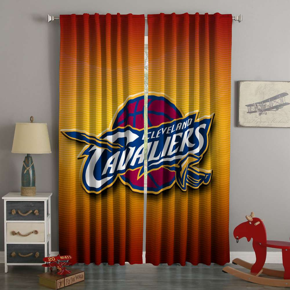3D Printed Cleveland Cavaliers Style Custom Living Room Curtains