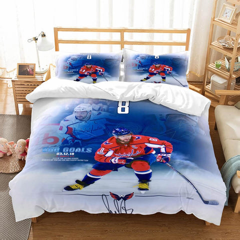 3D Customize Alex Ovechkin Washington Capitals Bedding Set Duvet Cover Set Bedroom Set Bedlinen