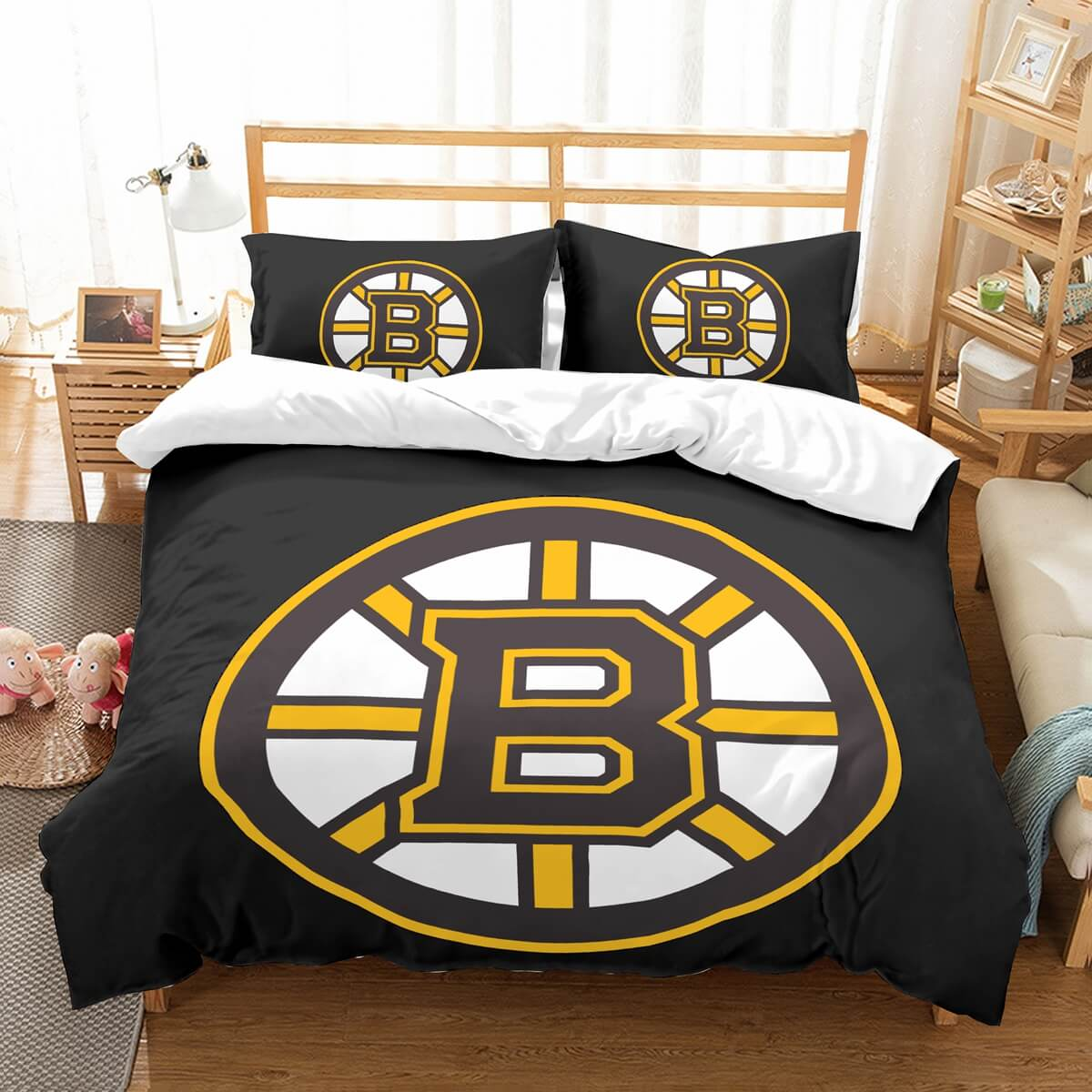 3D Customize Boston Bruins Bedding Set Duvet Cover Set Bedroom Set Bedlinen
