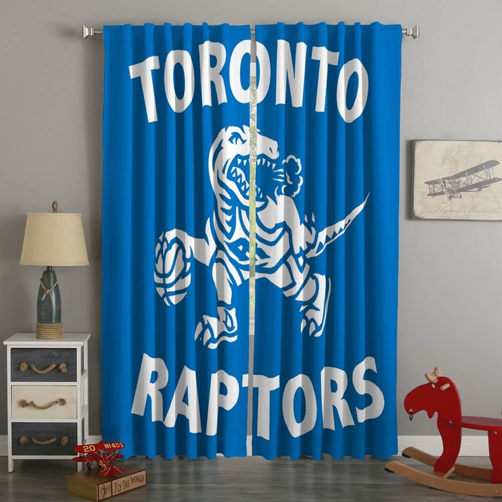 3D Printed Toronto Raptors Style Custom Living Room Curtains