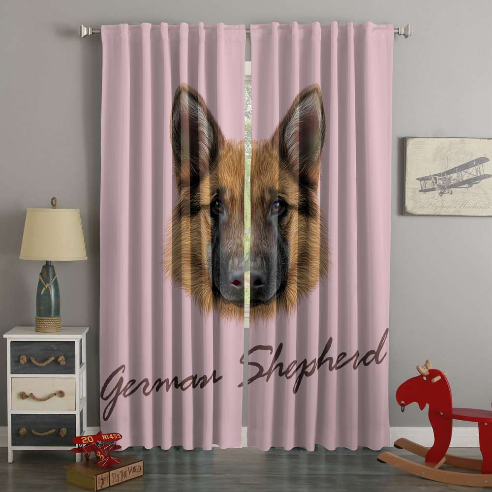 3D Printed German Shepherd Style Custom Living Room Curtains