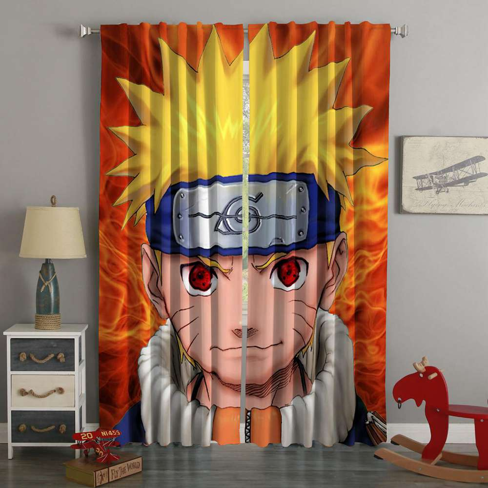 3D Printed Naruto Style Custom Living Room Curtains