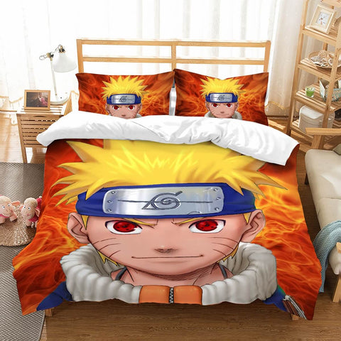 3D Customize Naruto Bedding Set Duvet Cover Set Bedroom Set Bedlinen