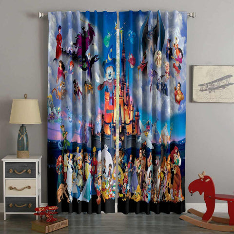 3D Printed Disney Style Custom Living Room Curtains