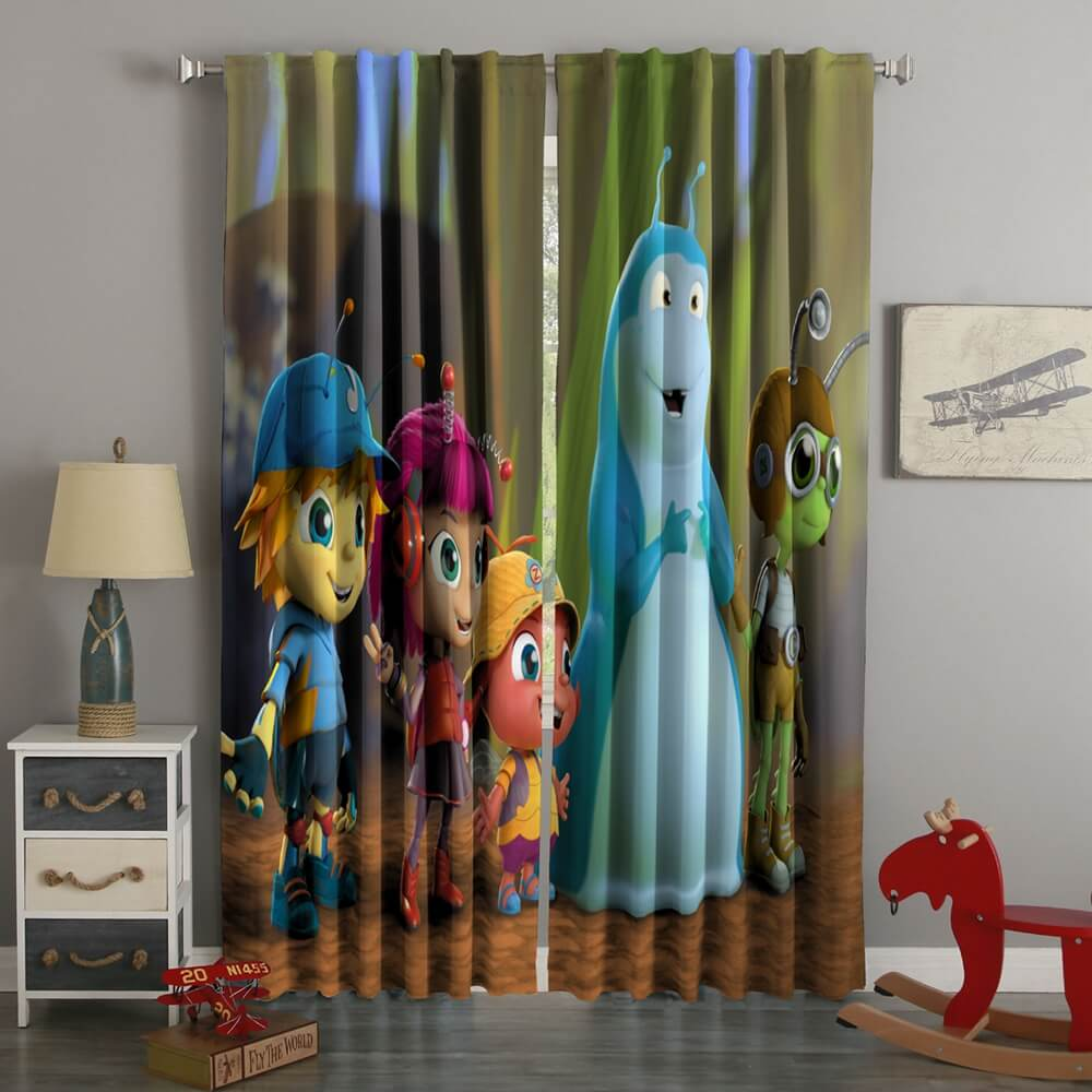 3D Printed Beat Bugs Style Custom Living Room Curtains