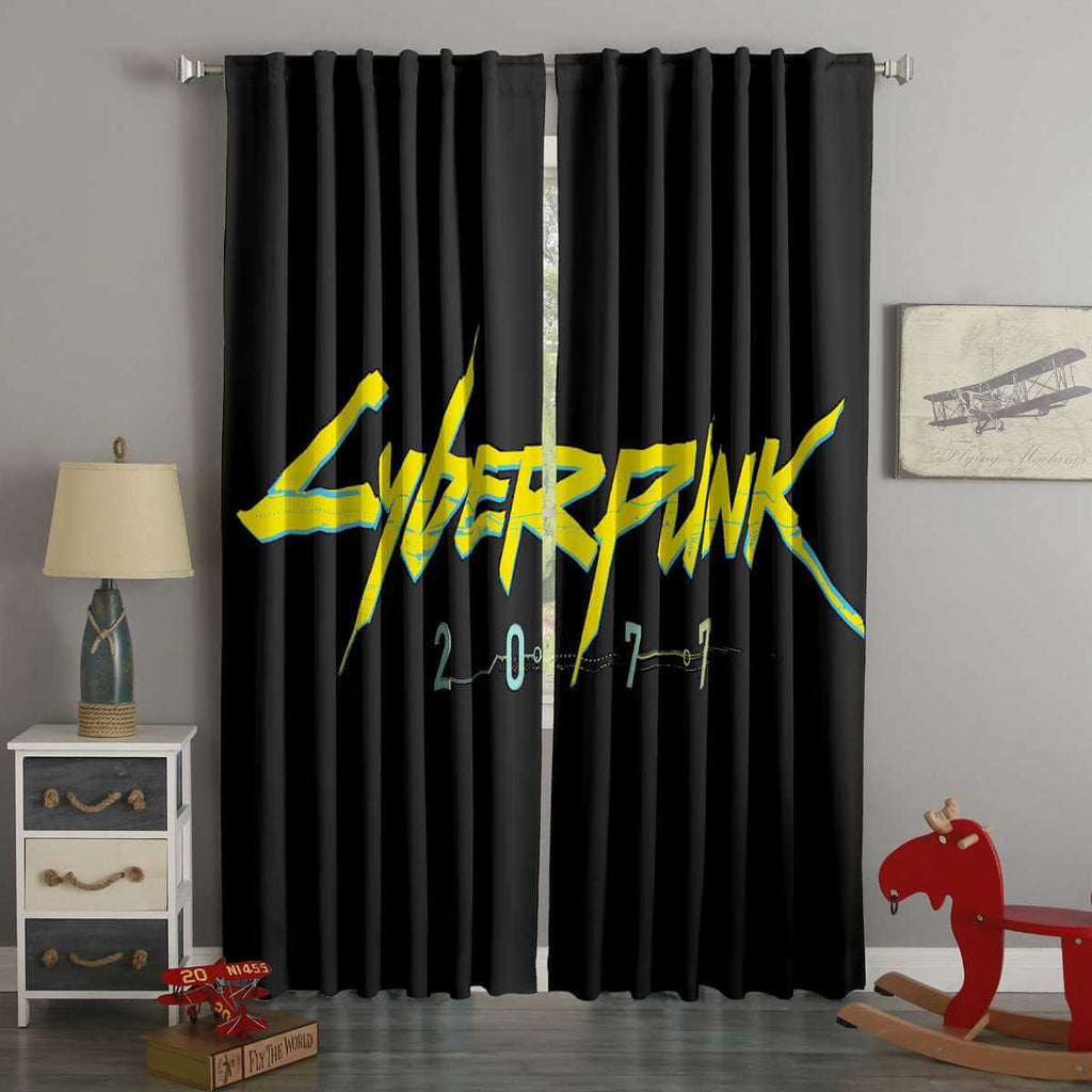 3D Printed Cyberpunk 2077 Style Custom Living Room Curtains