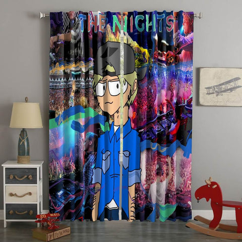 3D Printed Avicii The Nights Style Custom Living Room Curtains