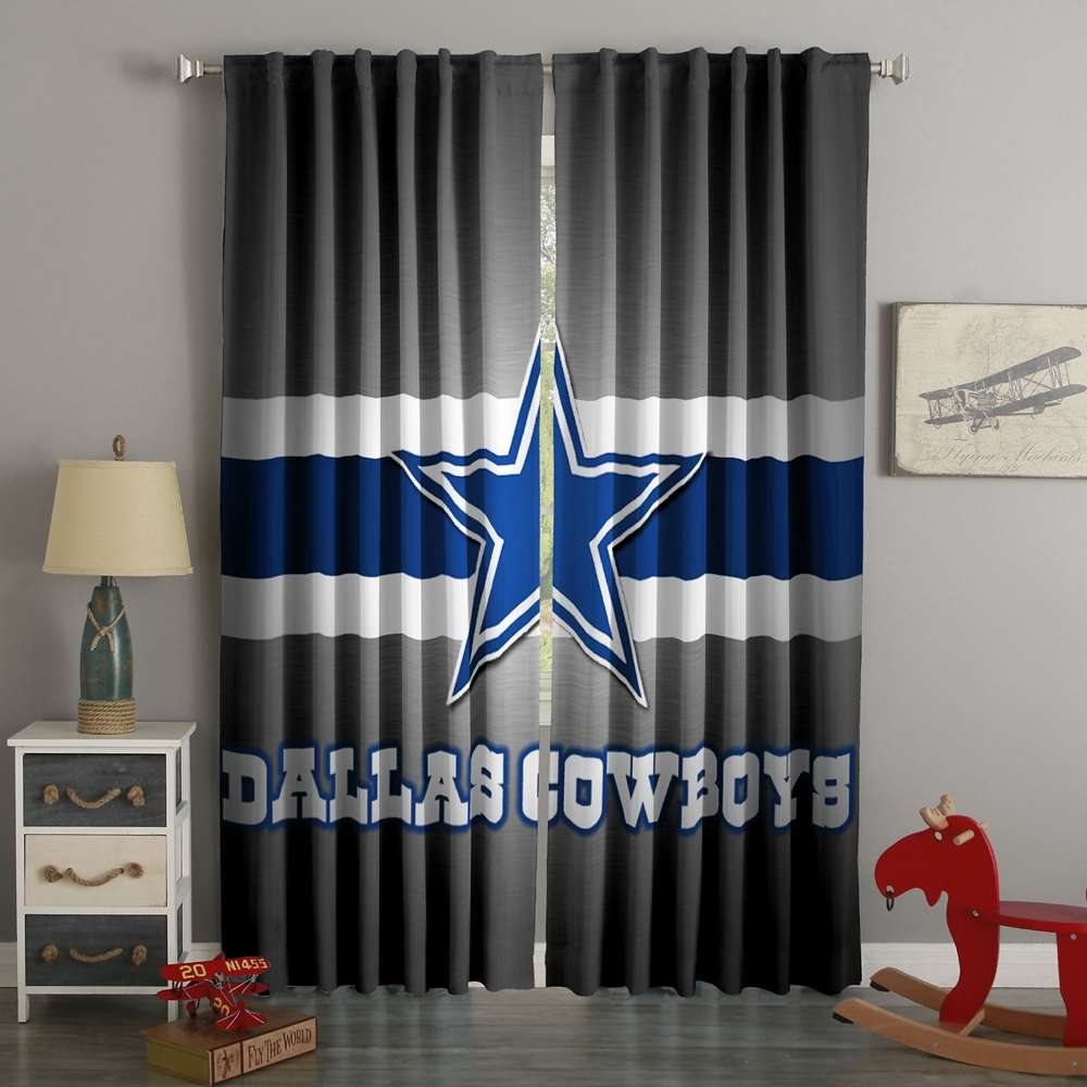 3D Printed Dallas Cowboys Style Custom Living Room Curtains