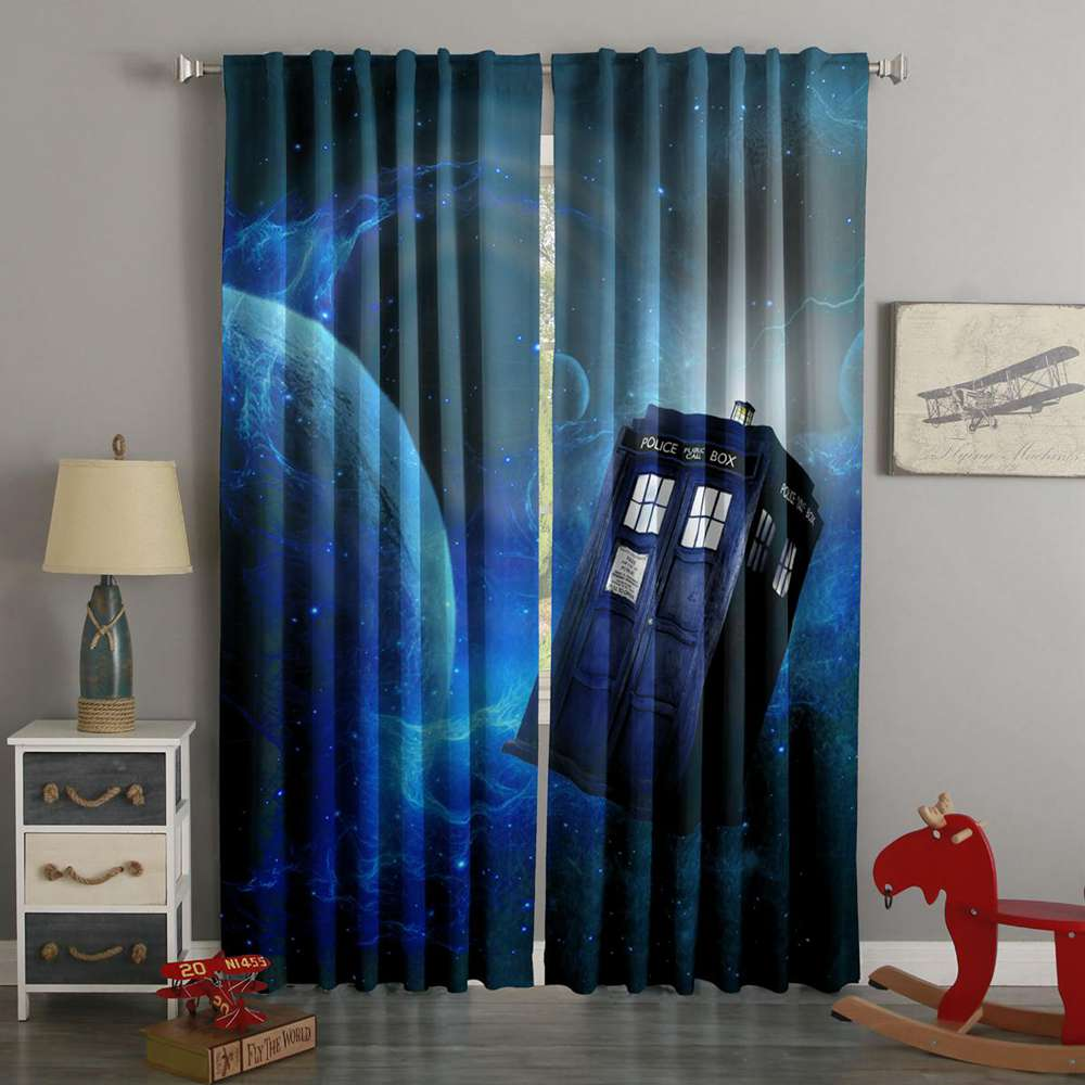 3D Printed Doctor Who Style Custom Living Room Curtains