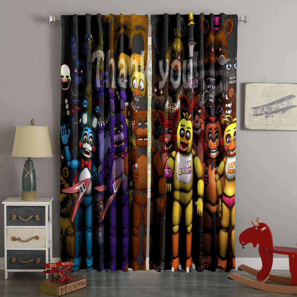 3D Printed Five Nights At Freddy's Style Custom Living Room Curtains