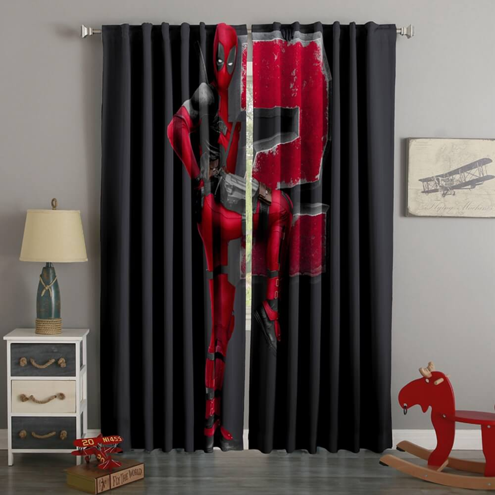 3D Printed Deadpool 2 Style Custom Living Room Curtains