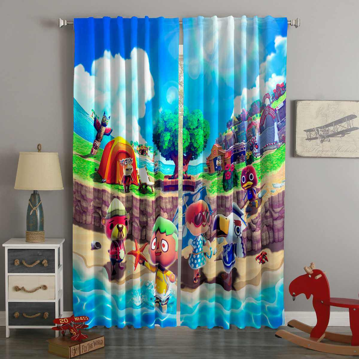 3D Printed Animal Crossing Style Custom Living Room Curtains