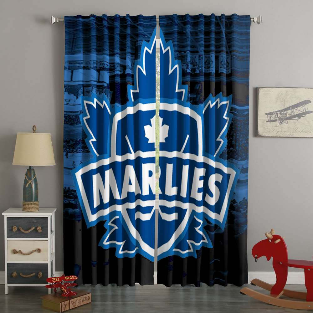 3D Printed Toronto Marlies Style Custom Living Room Curtains