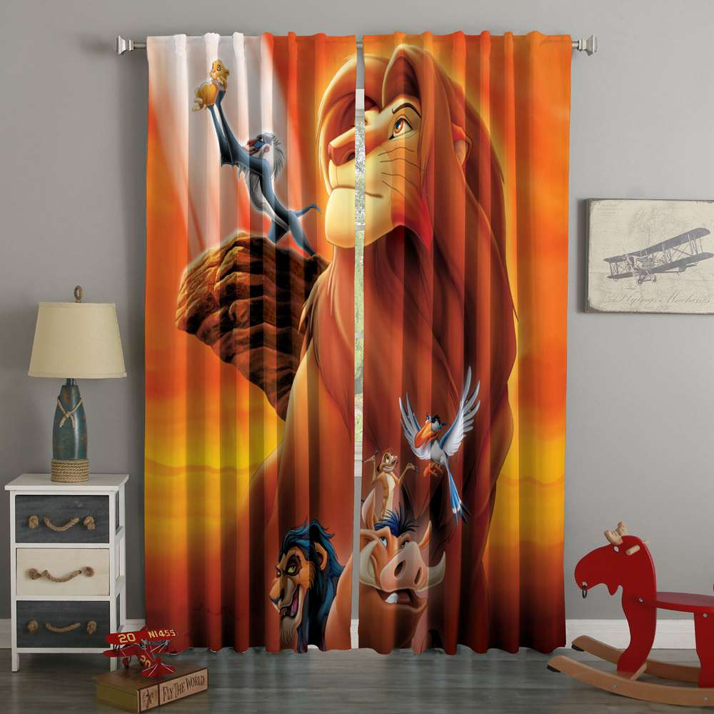 3D Printed The Lion King Style Custom Living Room Curtains