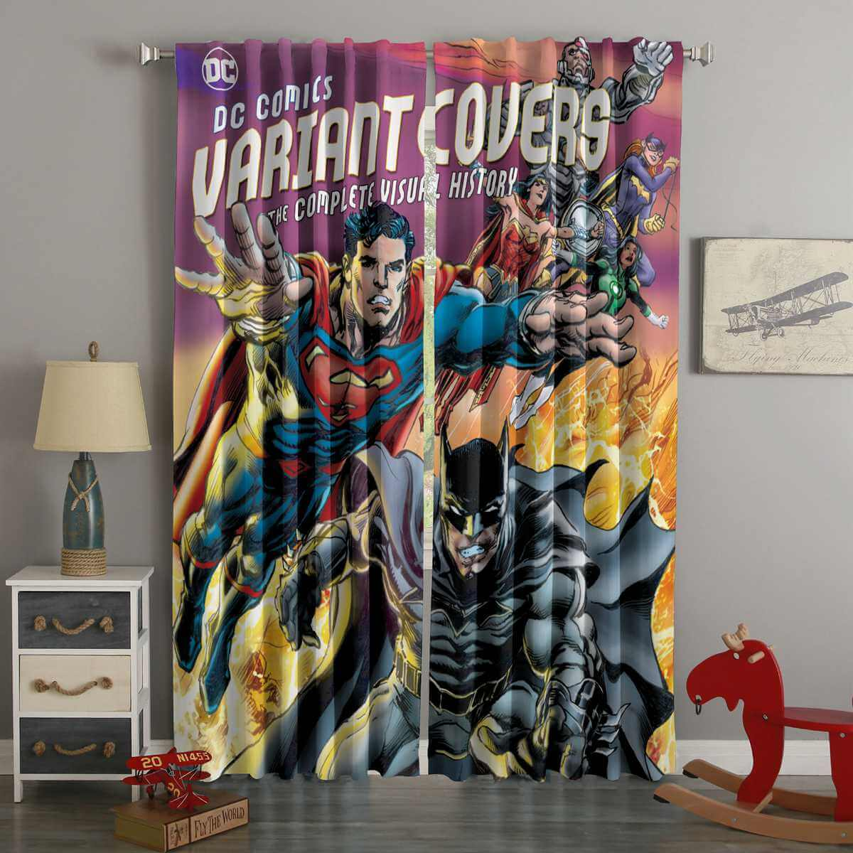 3D Printed DC Comics Style Custom Living Room Curtains