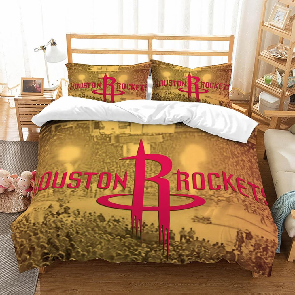 3D Customize Houston Rockets Bedding Set Duvet Cover Set Bedroom Set Bedlinen