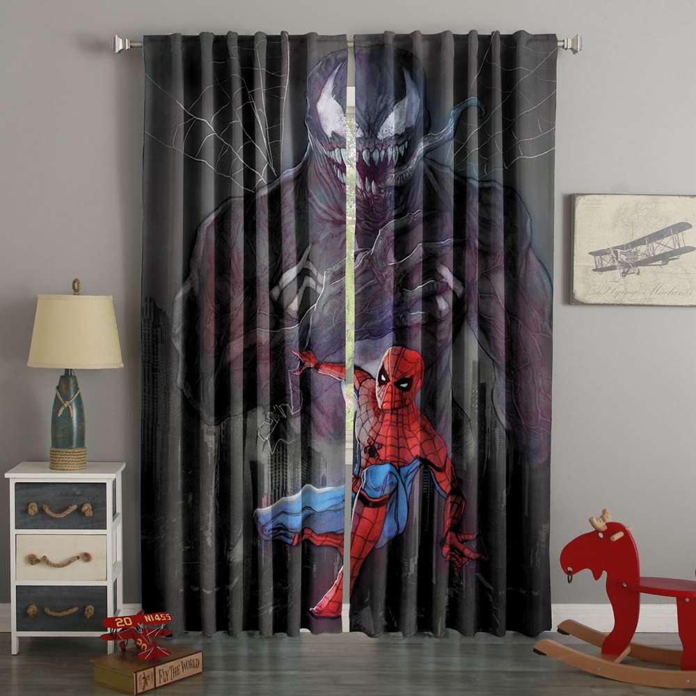 3D Printed Spider Man Custom Living Room Curtains
