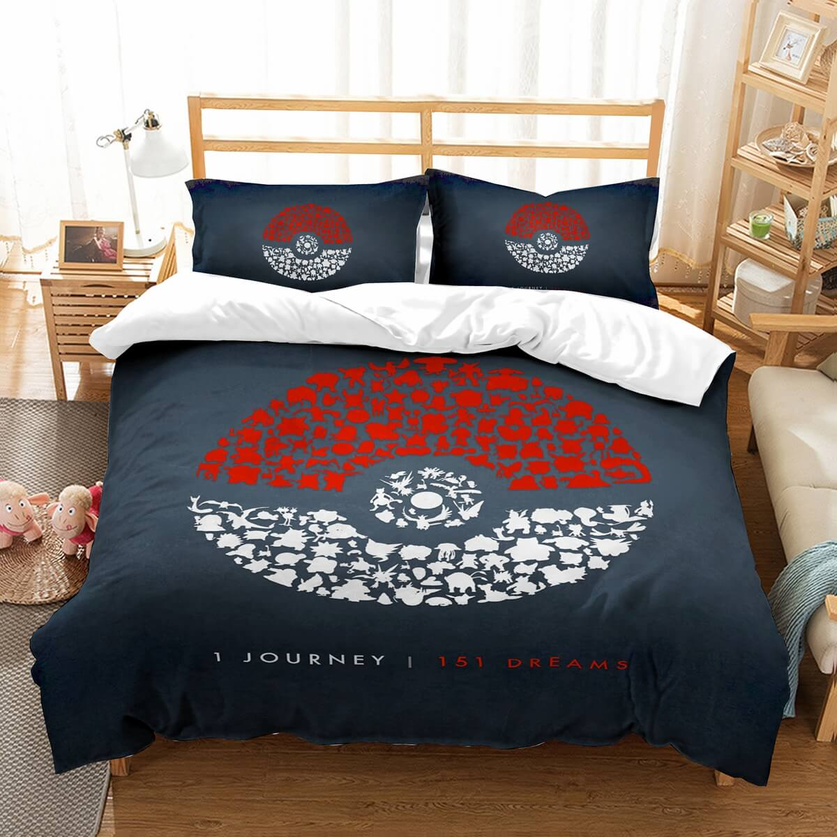 3D Customize Pokemon Bedding Set Duvet Cover Set Bedroom Set Bedlinen