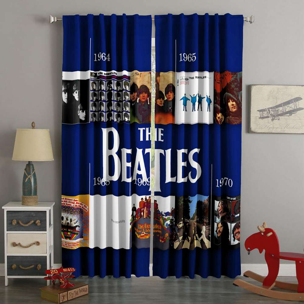 3D Printed The Beatles Style Custom Living Room Curtains
