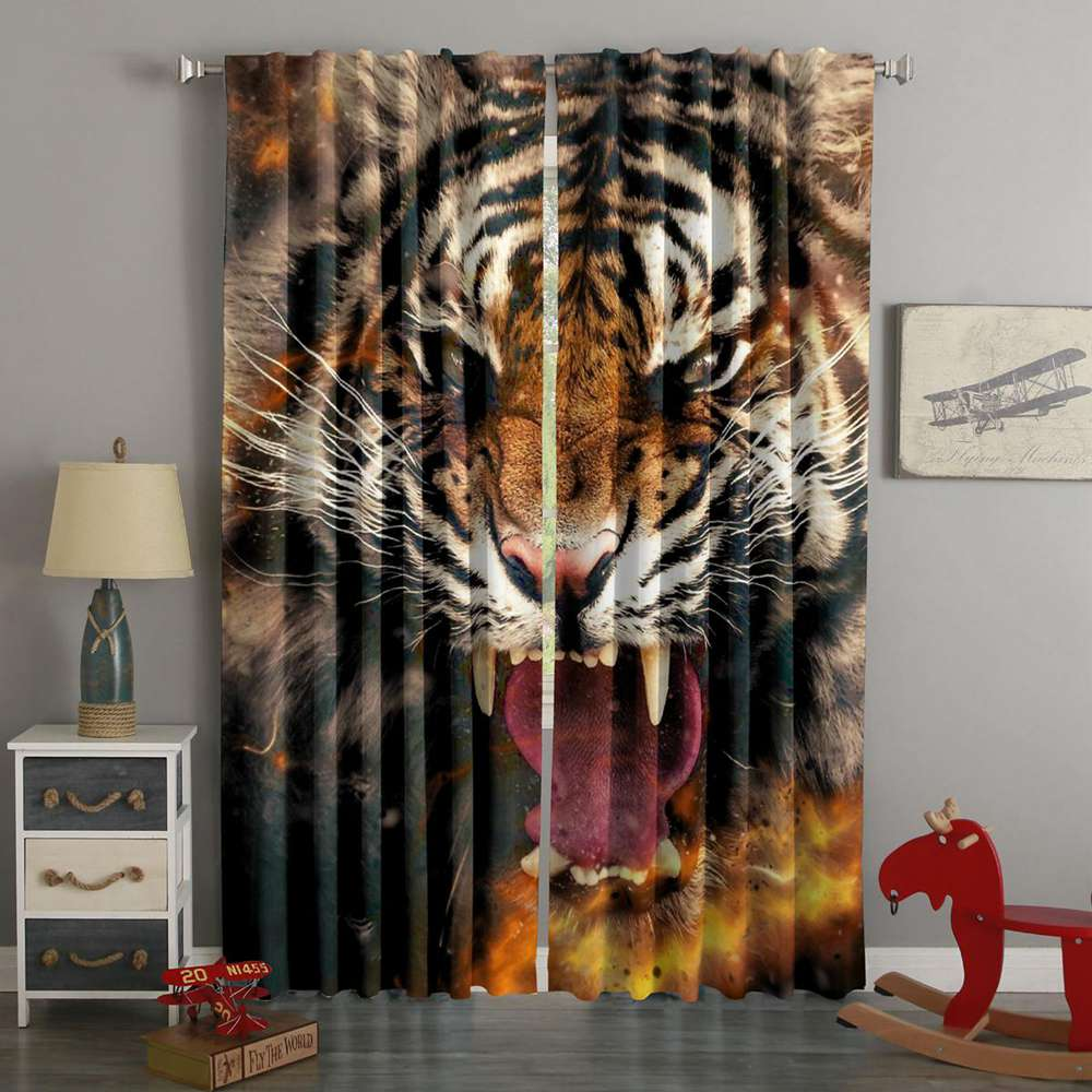 3D Printed Tiger Style Custom Living Room Curtains