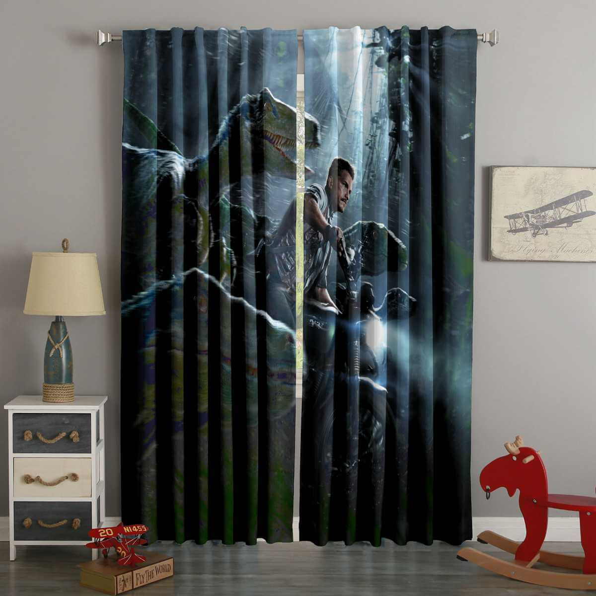 3D Printed Jurassic World Style Custom Living Room Curtains