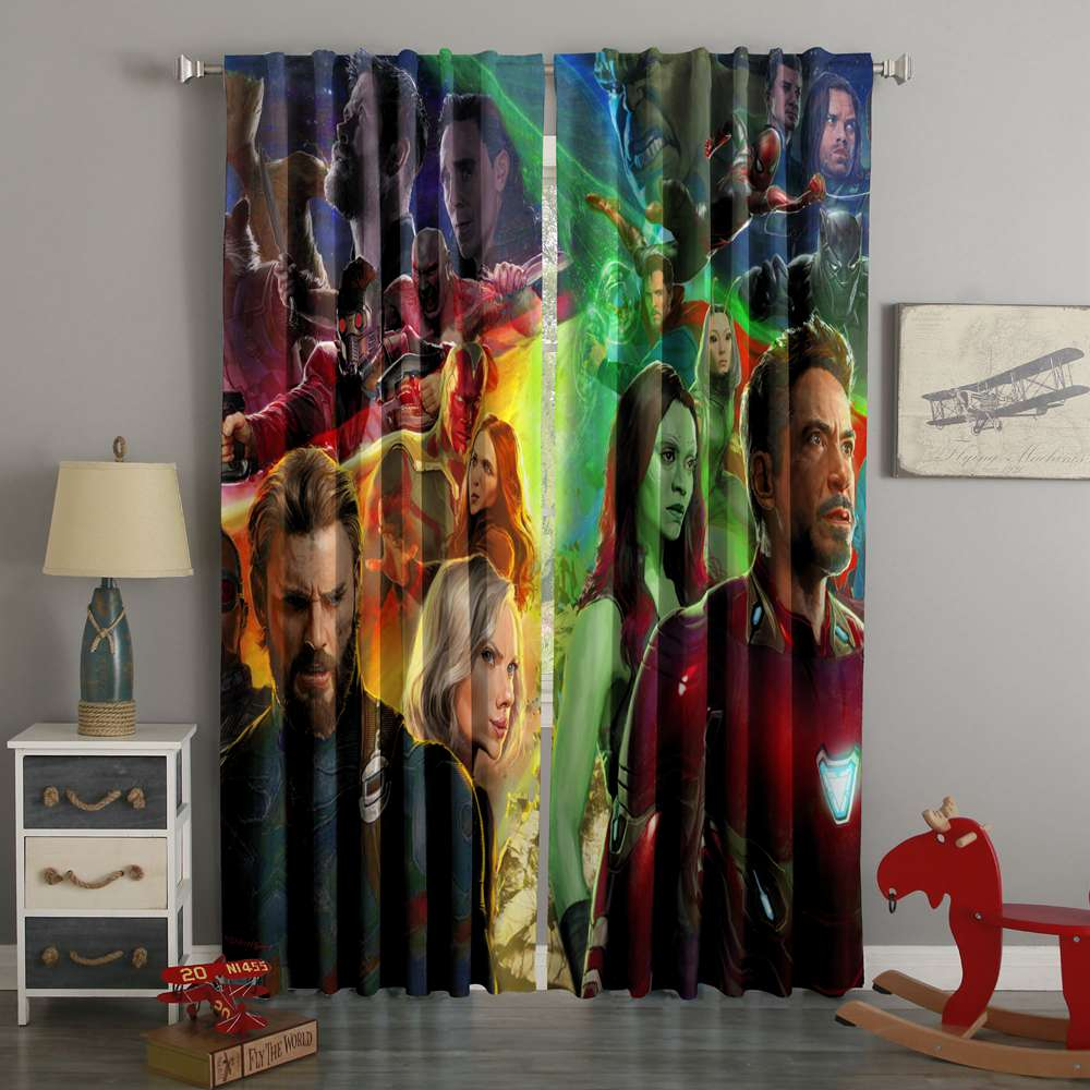 3D Printed Avengers Infinity War Style Custom Living Room Curtains