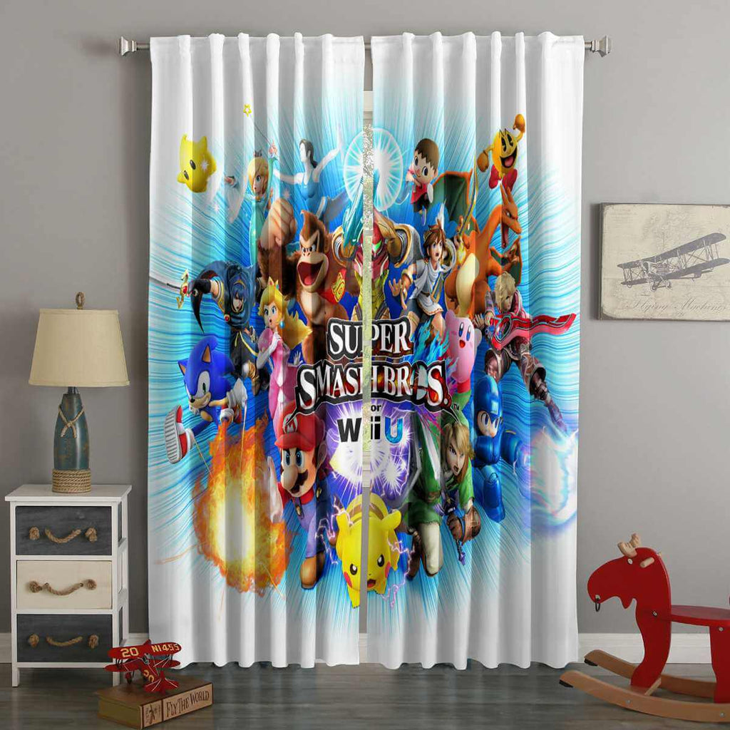 3D Printed Super Smash Bros Style Custom Living Room Curtains