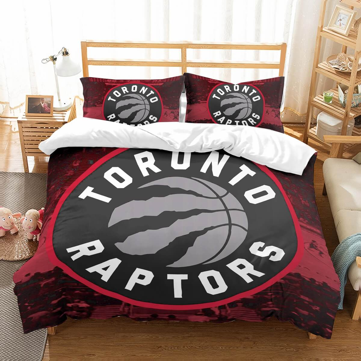 3D Customize Toronto Raptors Bedding Set Duvet Cover Set Bedroom Set Bedlinen